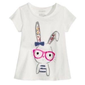 Bunny Rabbit Graphic T Shirt-NWT-3-6 mths